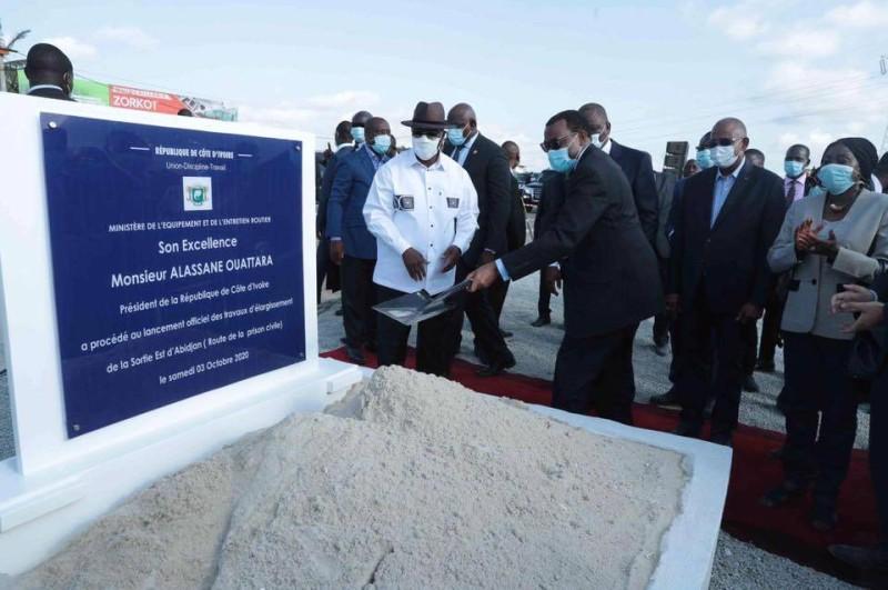 Côte d'Ivoire : lancement des travaux d'élargissement de la route de la prison civile d'Abidjan