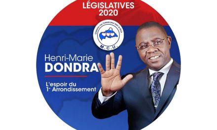 «Candidats aux législatives 2020 en Centrafrique »: Henri-Marie Dondra veut être l'artisan du développement du 1er arr de Bangui