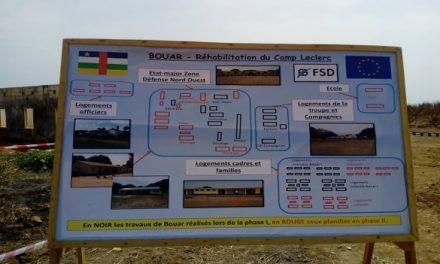 Centrafrique : Plusieurs infrastructures militaires en réhabilitation à Bouar