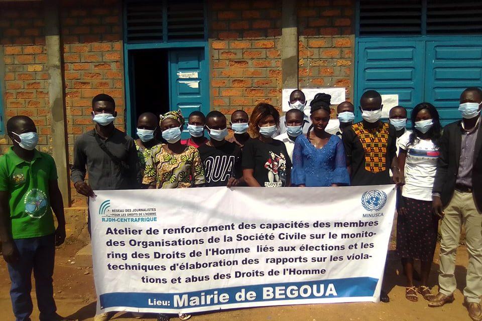 Centrafrique : Vers un monitoring des violations des droits de l'homme pendant les élections