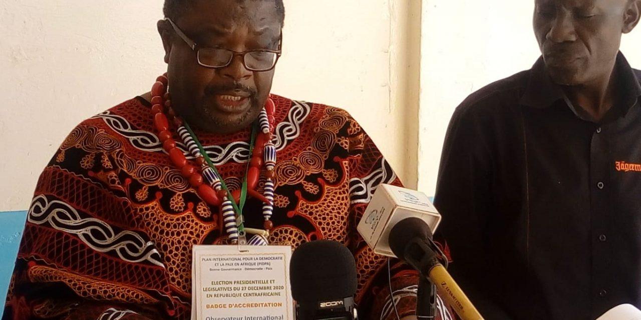 La Mission électorale de PIDPA félicite le vote des centrafricains