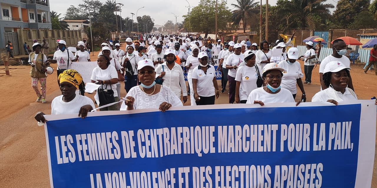 Centrafrique : Des femmes réclament la paix et les élections apaisées