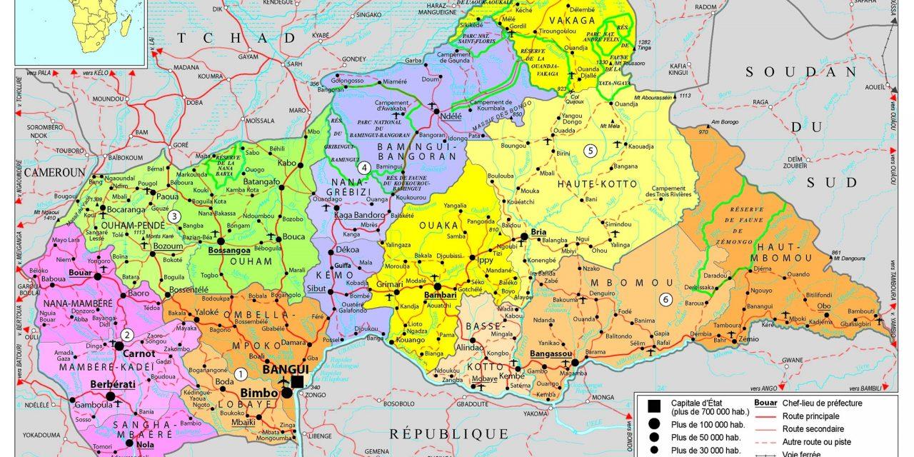 La Centrafrique dispose désormais de 20 préfectures et de 84 sous-préfectures