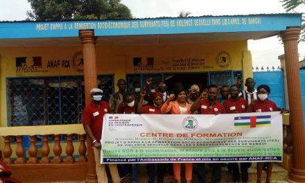 Centrafrique : L'ANAF ouvre un centre de formation pour les survivant.e.s des violences sexuelles