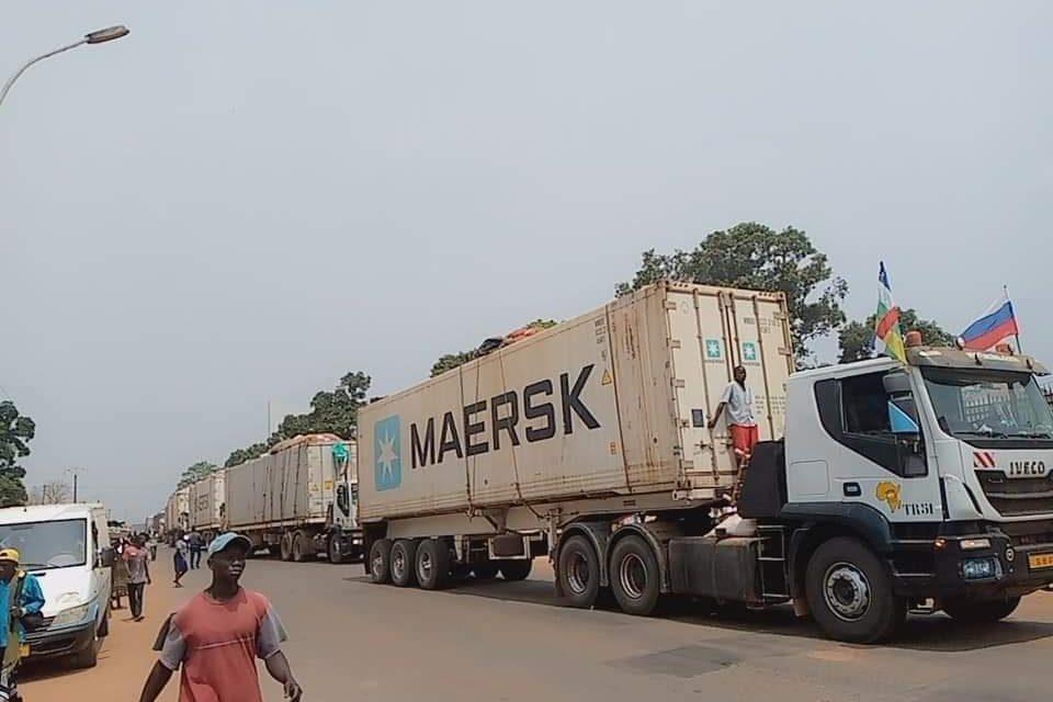 Centrafrique : L'arrivée à Bangui du premier convoi de Garoua-Mboulay