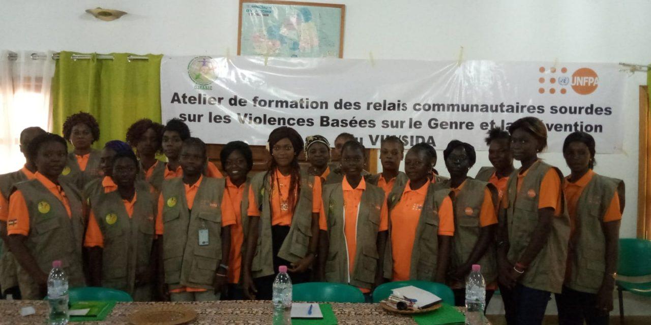 Centrafrique : L'UNFPA forme 20 filles sourdes sur les VBG et VIH/Sida