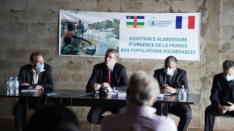 Assistance alimentaire de la France pour les personnes vulnérables de Centrafrique