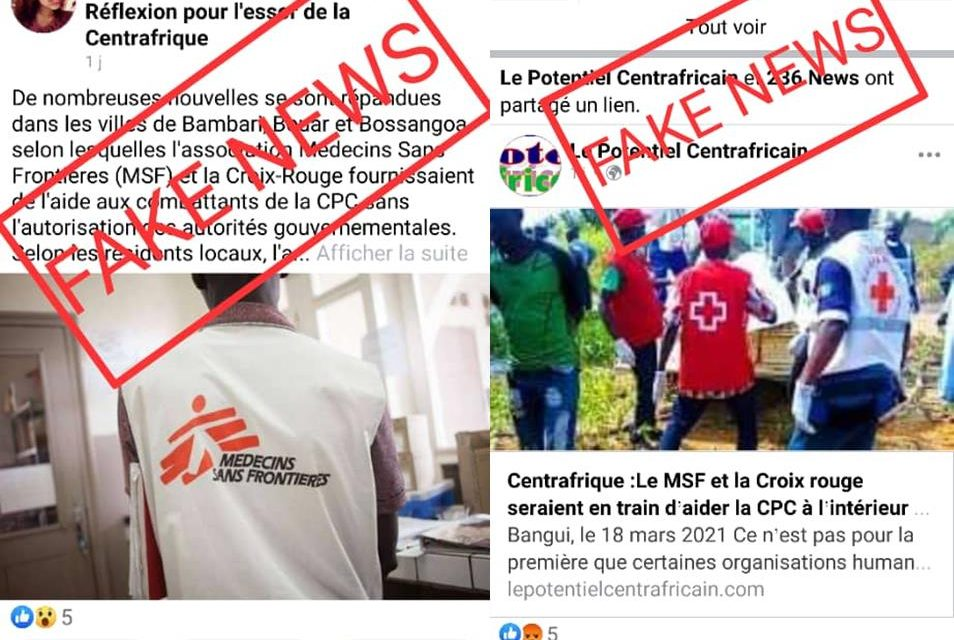 Faux ! Les MSF et la Croix Rouge ne fournissent pas de l'aide à la CPC