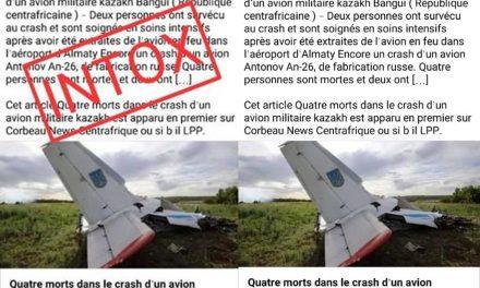 Attention intox ! Cette image de crash d'un d'avion n'a pas été prise en République Centrafricaine