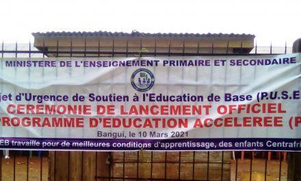 Centrafrique : lancement du programme d'Education Accélérée