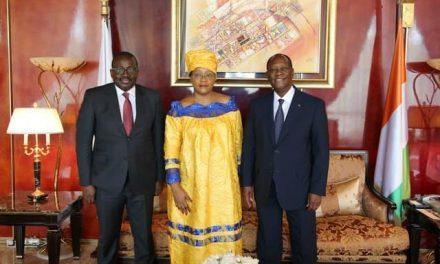 Centrafrique : Fin de mission en Côte d'Ivoire de l'Ambassadeur Honorine Lydie Magba