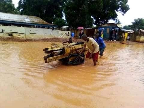 Centrafrique : Pluie et début d'inondation à Bangui