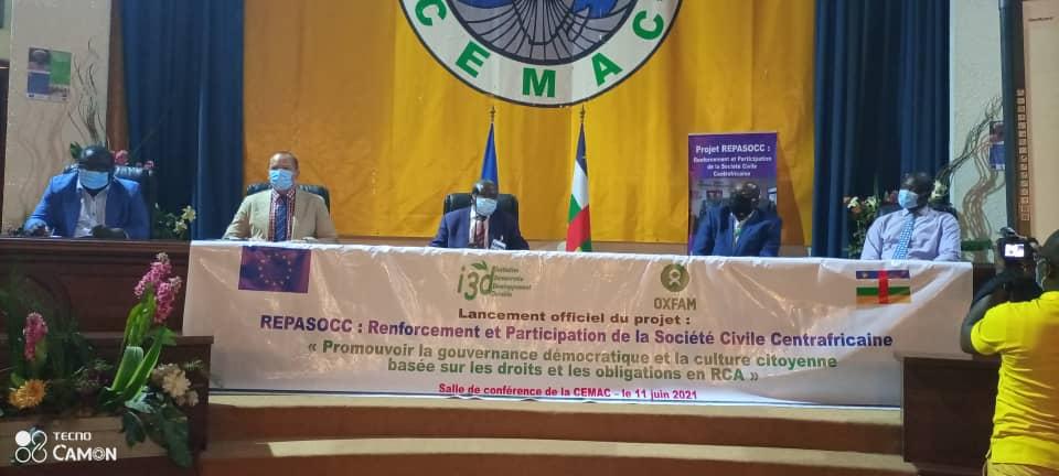 Centrafrique : Lancement du projet  REPASOCC en faveur de la société civile
