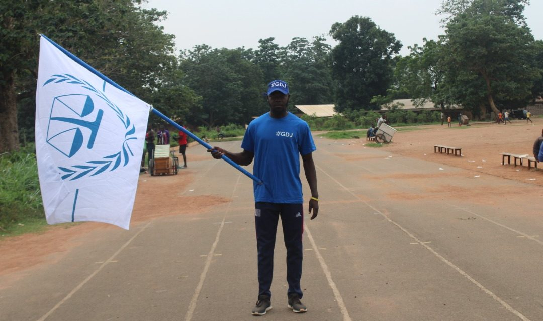 """""""Le Grand Tour de la Justice à Bangui"""", unissant ceux qui soutiennent l'État de droit sous le drapeau de la justice en République Centrafricaine"""