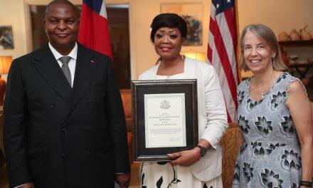 Centrafrique: Prix héros de la lutte contre la traite des personnes à Josiane Lina Bemaka-Soui