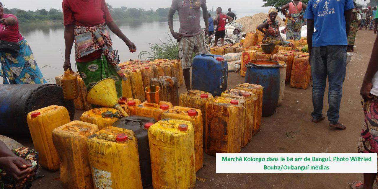 Centrafrique : Le marché de la villa Kolongo à Bangui, l'une des portes  de produits importés  de la RDC