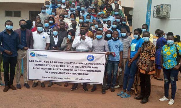 Centrafrique : Des étudiants sensibilisés sur la lutte contre la désinformation