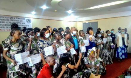 Centrafrique : L'ANAF certifie les victimes des violences sexuelles en fin de formation
