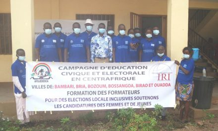 L'AFOJEDESCA forme 12 formateurs du projet «campagne d'éducation civique et électorale en Centrafrique»