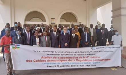 La Banque mondiale présente les cahiers économiques de la Centrafrique