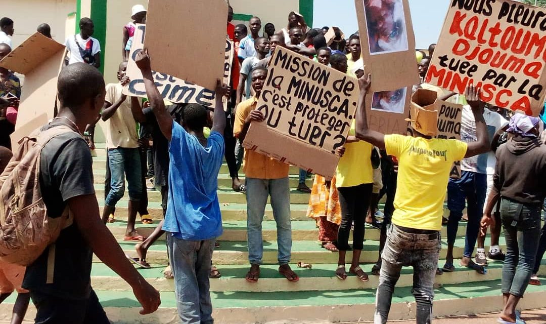 Centrafrique: Une manifestation de colère contre la Minusca suite à la mort de Kaltouma Djouma à Bria
