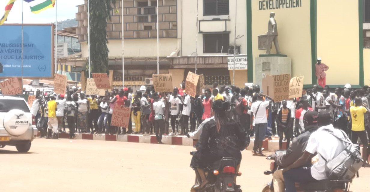 Centrafrique : Reprise des manifestations pour demander la levée de l'embargo sur les armes