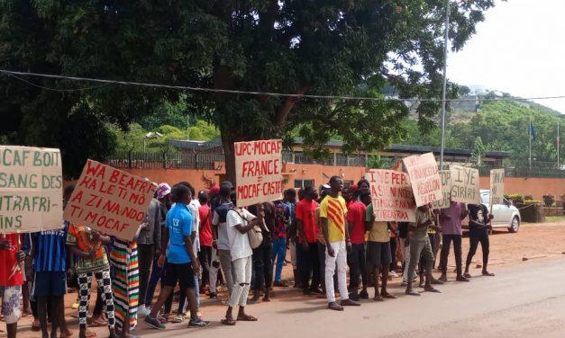 Centrafrique : Manifestation devant l'ambassade de France à Bangui